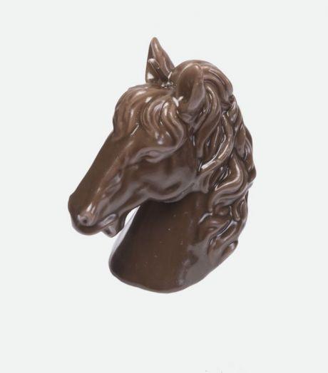Сувенирная свеча в виде головы лошади, белая или коричневая