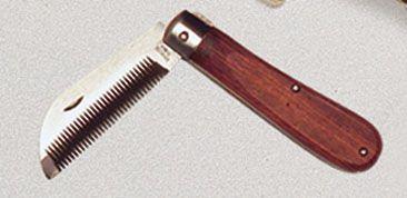 Нож для прореживания гривы, складной
