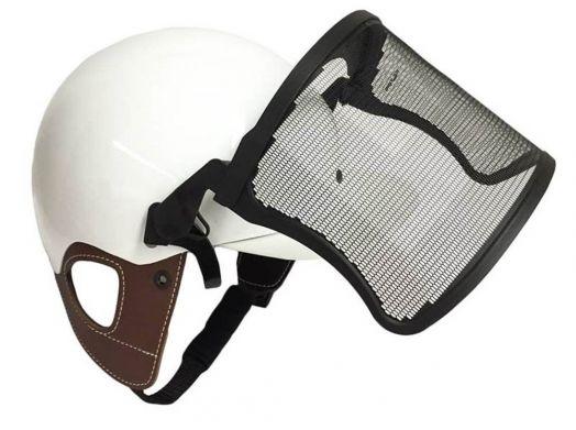 Защитный козырек (визор) на жокейку наездника универсальный